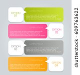 business infographics tabs... | Shutterstock .eps vector #609763622