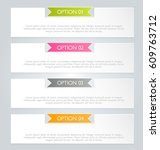 business infographics tabs... | Shutterstock .eps vector #609763712