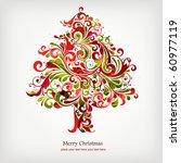 christmas tree | Shutterstock .eps vector #60977119