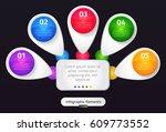 vector infographic elements.... | Shutterstock .eps vector #609773552