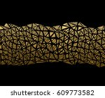 abstract gold texture seamless... | Shutterstock .eps vector #609773582