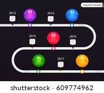 vector infographic elements.... | Shutterstock .eps vector #609774962