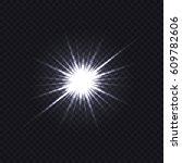 transparent glare background | Shutterstock .eps vector #609782606