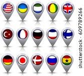 set of glossy navigation...   Shutterstock .eps vector #609789266