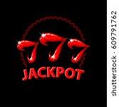 triple seven jackpot... | Shutterstock .eps vector #609791762