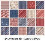 set of american patriotic stars ... | Shutterstock .eps vector #609795908