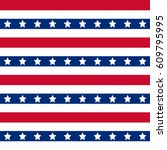 american patriotic stars and... | Shutterstock .eps vector #609795995