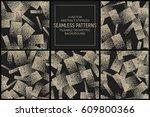 set of 5 vector abstract...   Shutterstock .eps vector #609800366