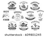 cereal and grain icons for... | Shutterstock .eps vector #609801245