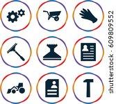 work icons set. set of 9 work...   Shutterstock .eps vector #609809552