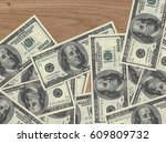 money on the table 3d... | Shutterstock . vector #609809732