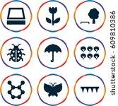 Spring Icons Set. Set Of 9...
