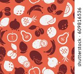 pattern with fruits | Shutterstock .eps vector #609816536