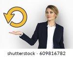 model show reload undo refresh... | Shutterstock . vector #609816782