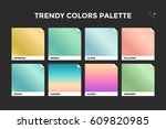 set of colorful trendy gradient ... | Shutterstock .eps vector #609820985