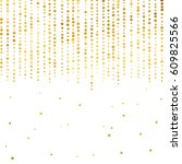 gold glitter background polka... | Shutterstock .eps vector #609825566