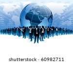 businesspeople are standing in... | Shutterstock .eps vector #60982711