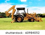 Picture Of A Back Hoe Ready To...