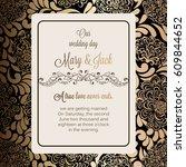 antique baroque luxury wedding... | Shutterstock .eps vector #609844652