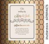 antique baroque luxury wedding... | Shutterstock .eps vector #609844676