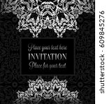 luxury ornament  lace in... | Shutterstock .eps vector #609845276