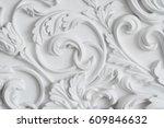 luxury white wall design bas...   Shutterstock . vector #609846632