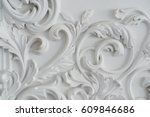 luxury white wall design bas... | Shutterstock . vector #609846686