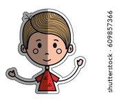 boy cartoon icon   Shutterstock .eps vector #609857366