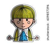 girl cartoon icon   Shutterstock .eps vector #609857396