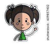 girl cartoon icon   Shutterstock .eps vector #609857402