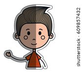 boy cartoon icon   Shutterstock .eps vector #609857432