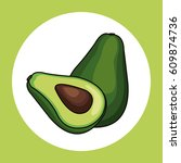 avocado healthy fresh image | Shutterstock .eps vector #609874736