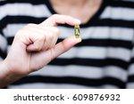 medicine pills or capsules in...   Shutterstock . vector #609876932