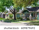 a row of houses in the historic ... | Shutterstock . vector #609879692