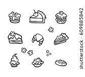 baking  cupcake  muffin  pie... | Shutterstock .eps vector #609885842