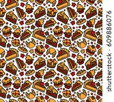 baking  cupcake  muffin  pie... | Shutterstock .eps vector #609886076