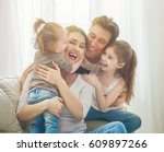 happy mother's day  two... | Shutterstock . vector #609897266