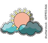 sun and clouds cartoon character   Shutterstock .eps vector #609901466