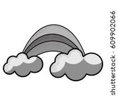 grayscale rainbow with cloud...   Shutterstock .eps vector #609902066