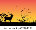 silhouette of an animal | Shutterstock .eps vector #609904196
