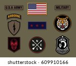 set of army badge typography  t ... | Shutterstock .eps vector #609910166