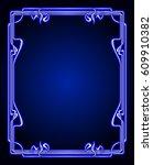 vector art nouveau frames for... | Shutterstock .eps vector #609910382