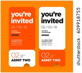 you're invited invitation in... | Shutterstock .eps vector #609918755