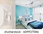 room with master bed and... | Shutterstock . vector #609927086