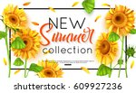 new summer collection with... | Shutterstock .eps vector #609927236