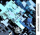 complex pixel pattern... | Shutterstock .eps vector #609933242