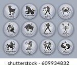 horoscope set  leo  virgo ... | Shutterstock .eps vector #609934832