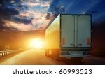 the truck on asphalt road | Shutterstock . vector #60993523