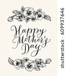 happy mothers day card with... | Shutterstock .eps vector #609937646