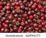 Lots of cherries. - stock photo